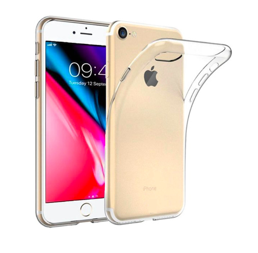Apple iPhone SE 2020 transparante soft case TPU
