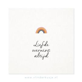 Luxe ansichtkaart 'Liefde overwint'