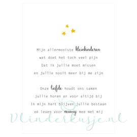 Ansichtkaart 'Mijn kleinkinderen' ★