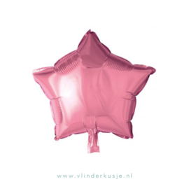 Ster ballon roze