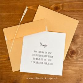 Luxe enveloppe vierkant / goud