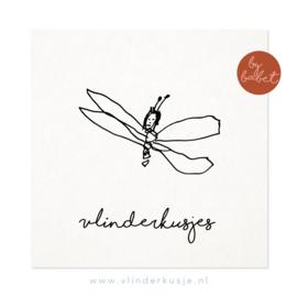 Luxe ansichtkaart 'Vlinderkusjes van Babet'