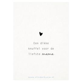 Luxe ansichtkaart 'Liefste mama'
