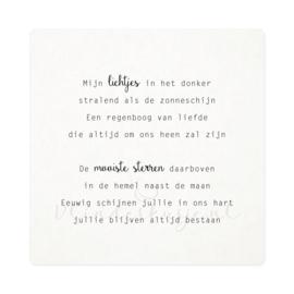 Luxe ansichtkaart 'Boris & Herm'
