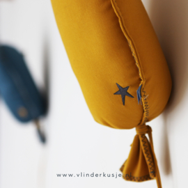 Ballon met kleine ster - Okergeel