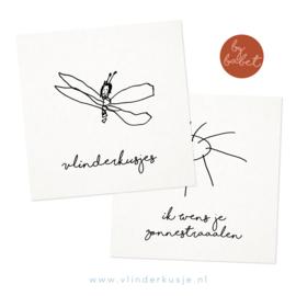 Luxe ansichtkaarten set van 2 'Babet'