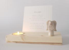 Gedenkplekje XL 'Engel' • keuze uit 10 kaarten • met engeltje