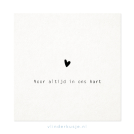 Luxe ansichtkaart 'In ons hart'