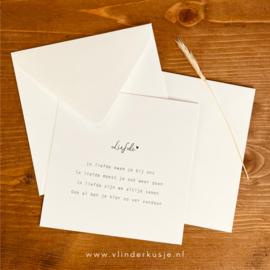 Luxe enveloppe vierkant / wit