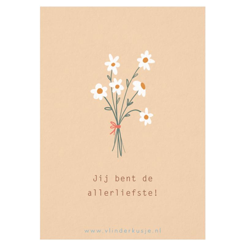 Luxe ansichtkaart 'Allerliefste!'