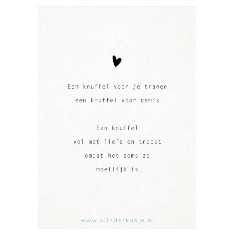 Luxe ansichtkaart 'Knuffel gedichtje'
