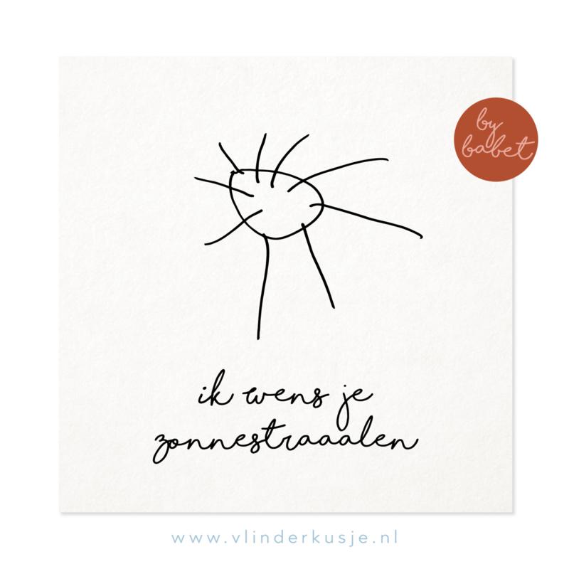 Luxe ansichtkaart 'Zonnestraaalen'
