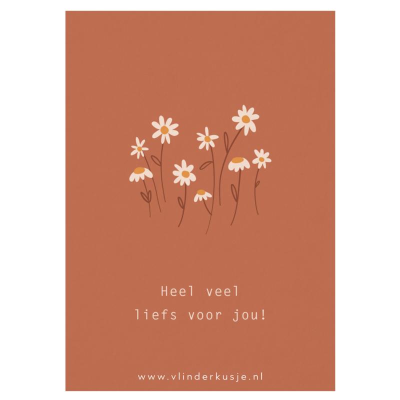 Luxe ansichtkaart 'Liefs voor jou!' ✿