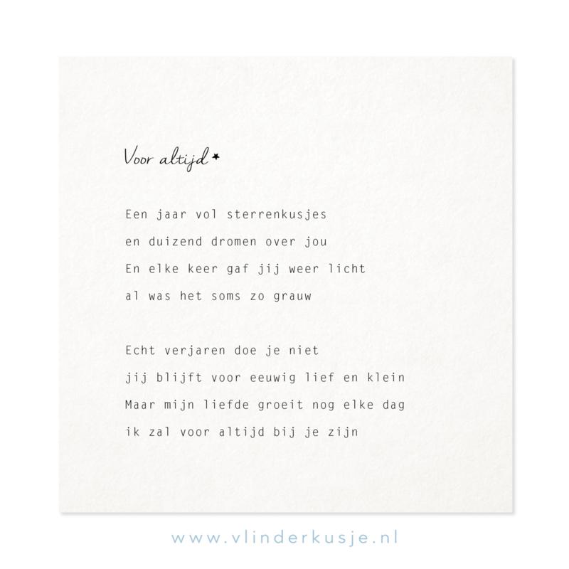 Luxe ansichtkaart 'Voor Altijd'