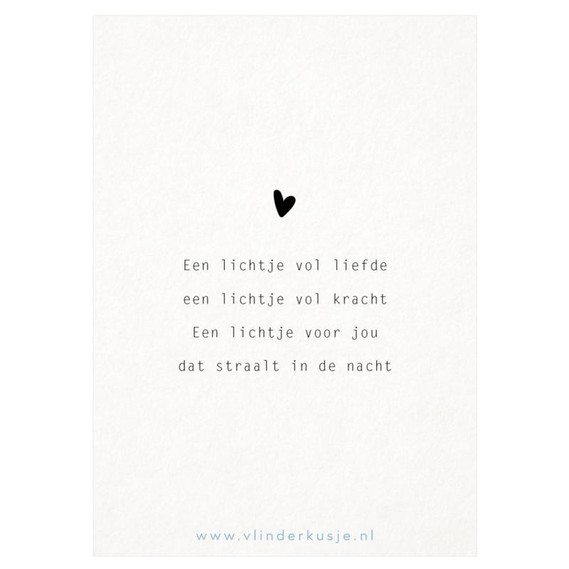 Luxe ansichtkaart 'Lichtje vol liefde'