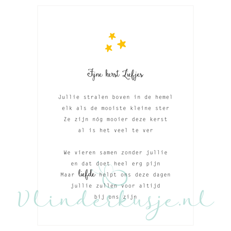 Ansichtkaart Kerst 'Pleun en Noortje' ★