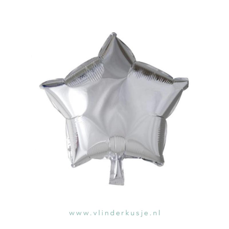 Ster ballon zilver