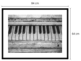 Close up Worn down piano