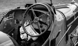 Cockpit van een pre-war racing car