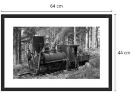 Een retro locomotief