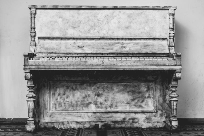 Worn down piano