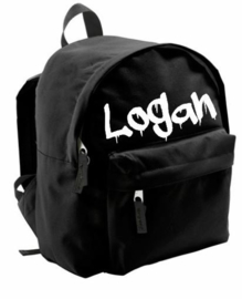 Black drip customized backpack