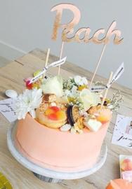 Cake Topper 'Naam & Glitter' naam