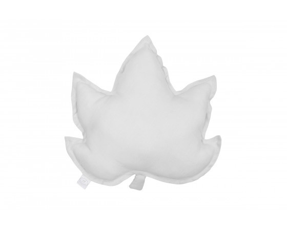 LINEN MAPLE LEAF PILLOW