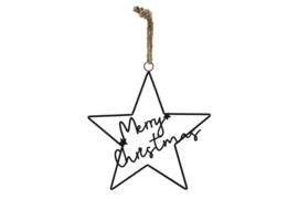"""Hanger ster """"Merry Christmas"""""""
