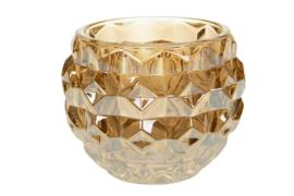 Waxinelichthouder goud glas