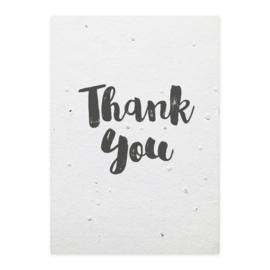Groeikaart - Thank You