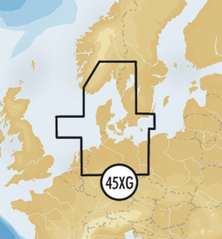 Navionics+ MicroSD 45XG Skagerrak & Kattegat