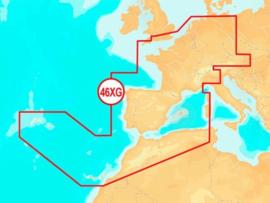 Navionics+ MicroSD 46XG Central & West Europe
