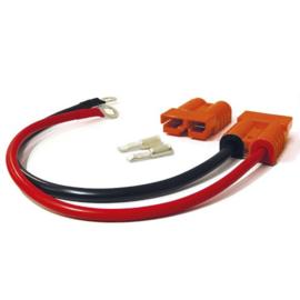 Jarocells verloopkabel SB50 oranje naar 2x 8MM ring