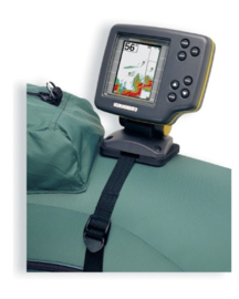 Scotty 268 Fishfinder and transducer mount