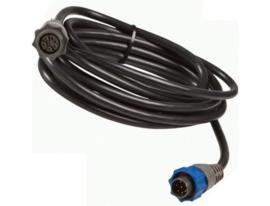 Lowrance XT-20BL 7-pin blauwe connector verlengkabel 6,0mtr
