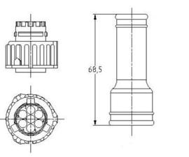 DIN Connector kit recht