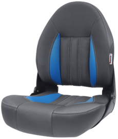 Tempress ProBax High-Back bootstoel antraciet/blauw/carbon