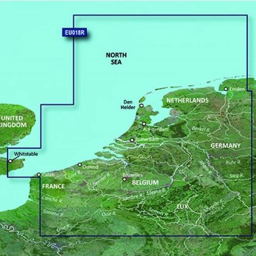 Garmin BlueChart G3 Vision - VEU018R Benelux Offshore & Inland