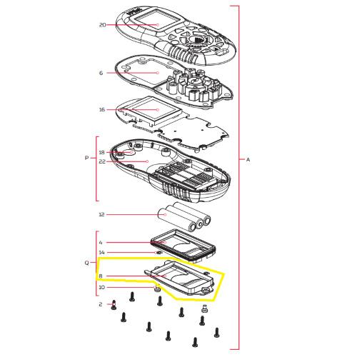 Minn Kota i-Pilot BT afstandsbediening batterij kapje