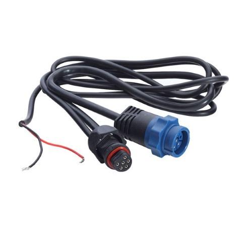 Lowrance Y-kabel 7-pin blauw en voeding naar Uni-plug