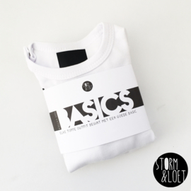 BASIC SHIRT WIT LANGE MOUW