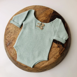 """Newborn Romper - Knitted Collection """"Baby"""" - Mint"""