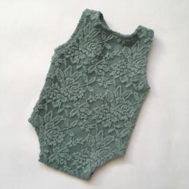 Romper gevoerd oud groen newborn