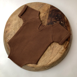 Sitter romper - Special - Brown - Size 74