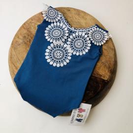 Romper - Blue lace - Size 80