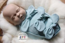 Bundle of Love Wrap & BOW option- Soft Mint
