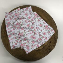 Bundle of Love Wrap & BOW option - FLOWER white