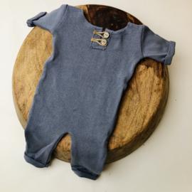 "Newborn Onesie - Knitted Collection ""Baby"" - Old Blue"