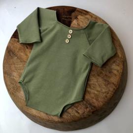 Newborn Romper Stretch - Olive